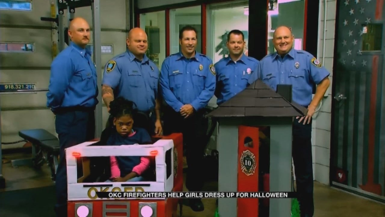 OKC Fire Makes Halloween Costume Wishes A Reality For 2 Young Girls