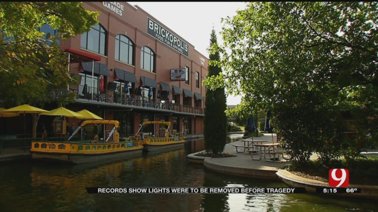 Records Show Lights Were To Be Removed Before Bricktown Canal Tragedy