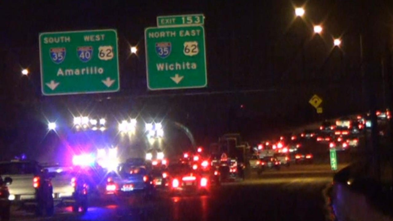Fuel Spill On I-40 WB Near I-35 Off Ramp