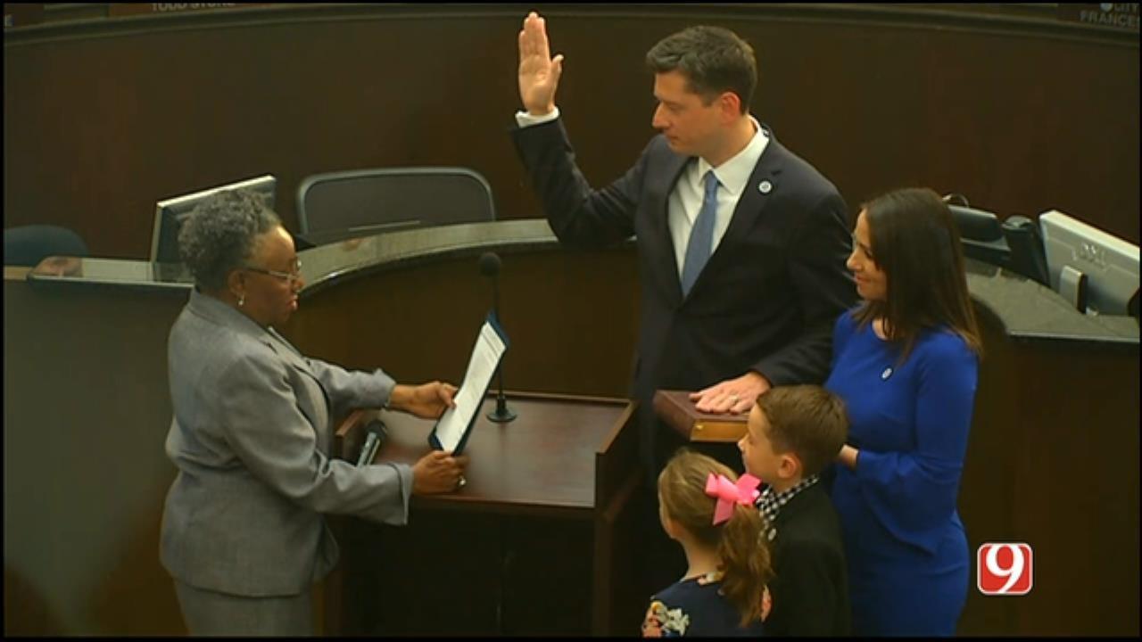 WEB EXTRA: David Holt Being Sworn In As OKC Mayor