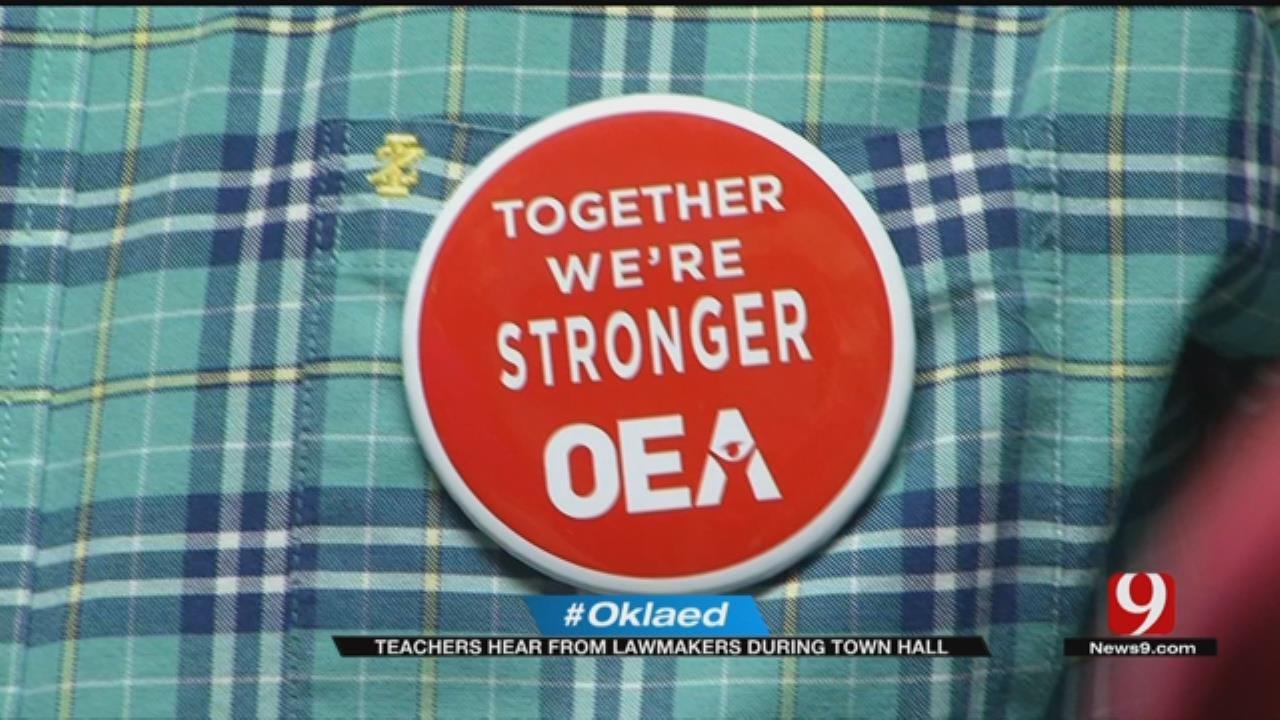 Teachers, Legislators Talk At Moore Town Hall
