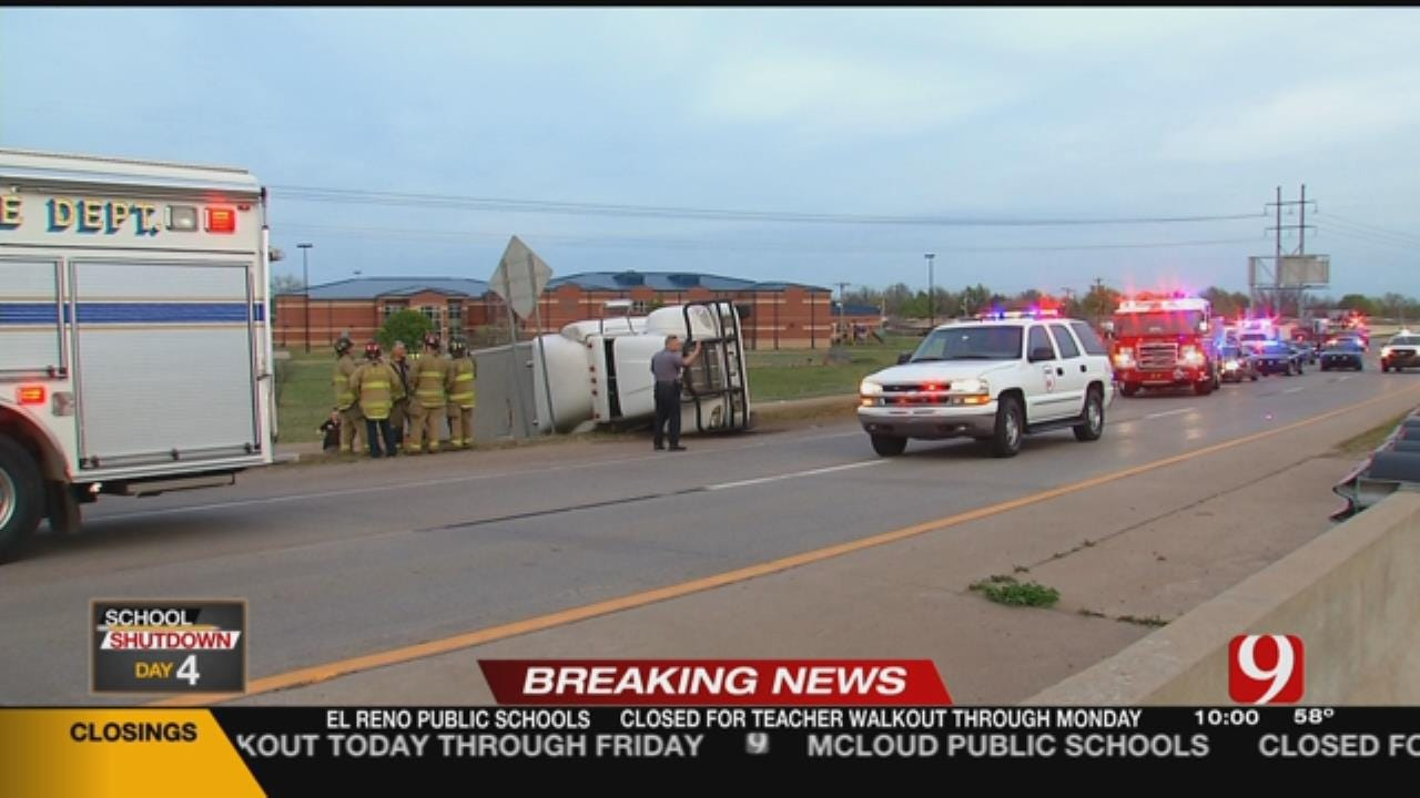 OHP Responds To Injury Collision Involving An Overturned Cattle Truck