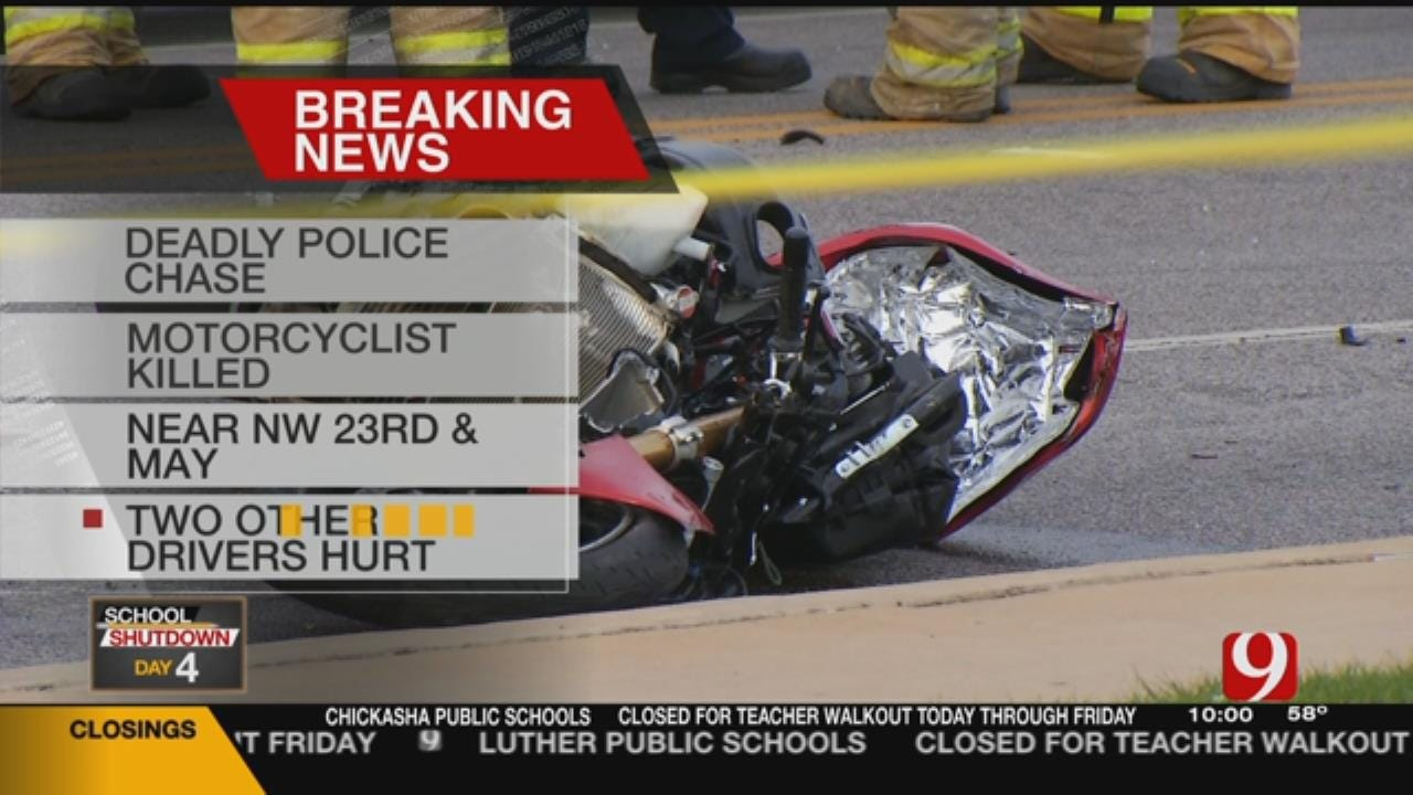 Emergency Crews Respond To Fatal Motorcycle Crash In NW OKC