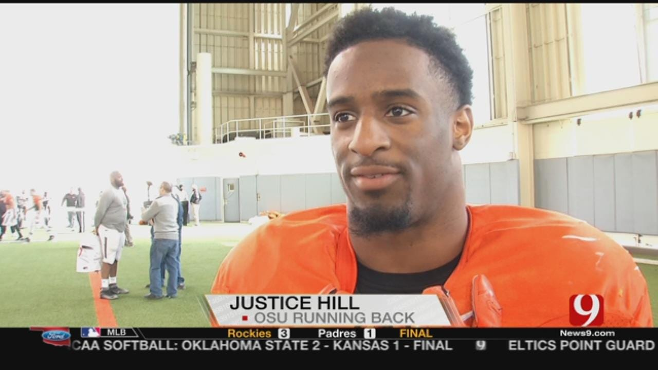 WEB EXTRA: Justice Hill Weighs In On OSU's QB Competition