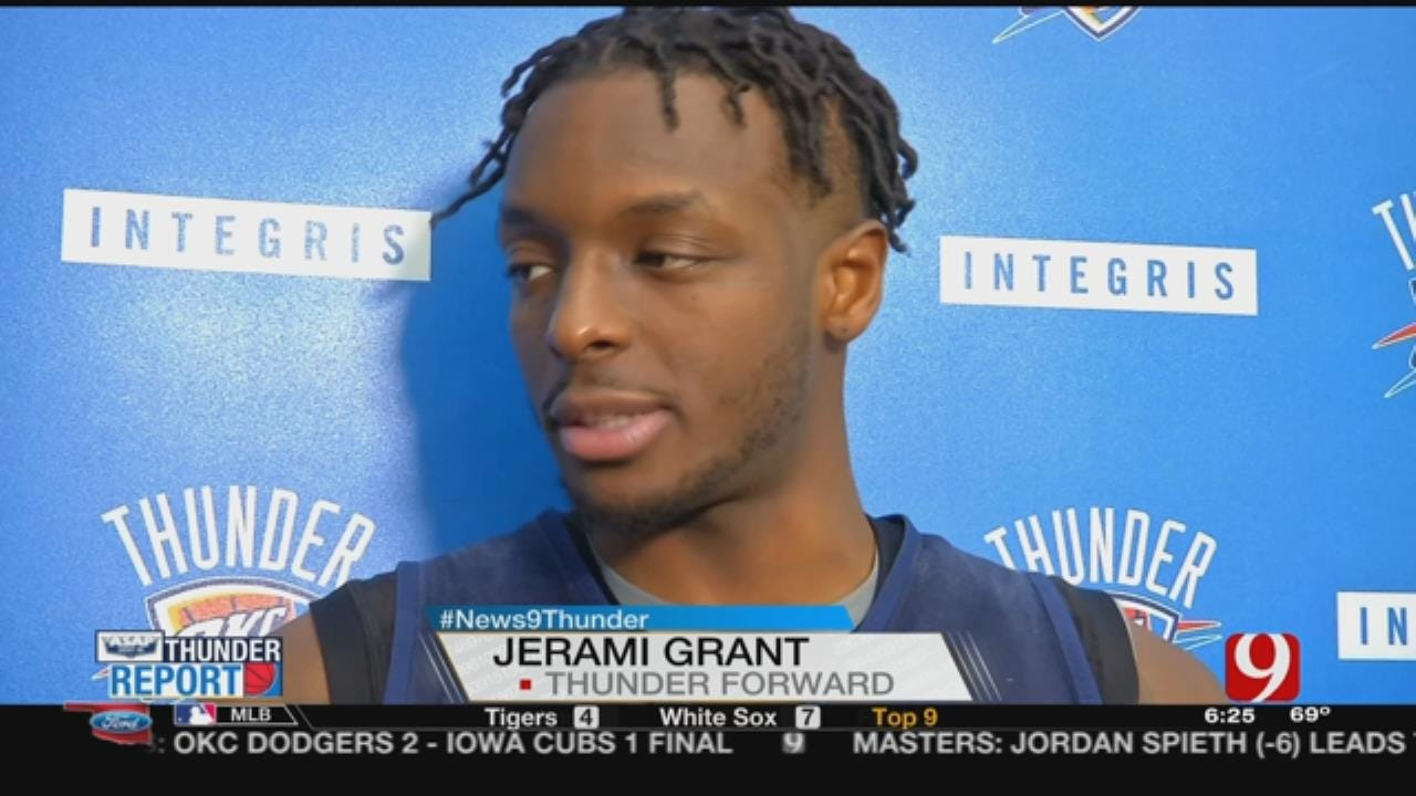 WEB EXTRA: Thunder Players Discuss Playoff Chances