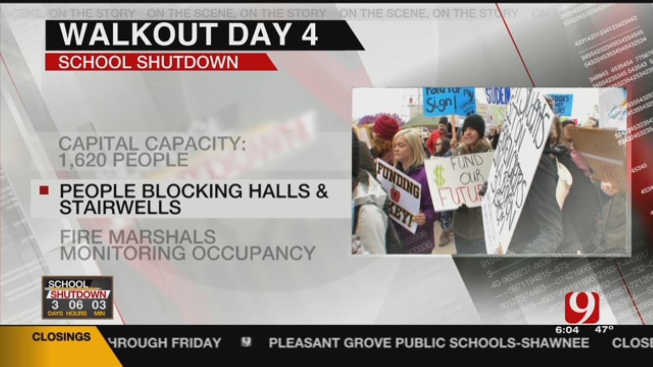 Fire Marshal Concerned About Capacity At The State Capitol During Walkout