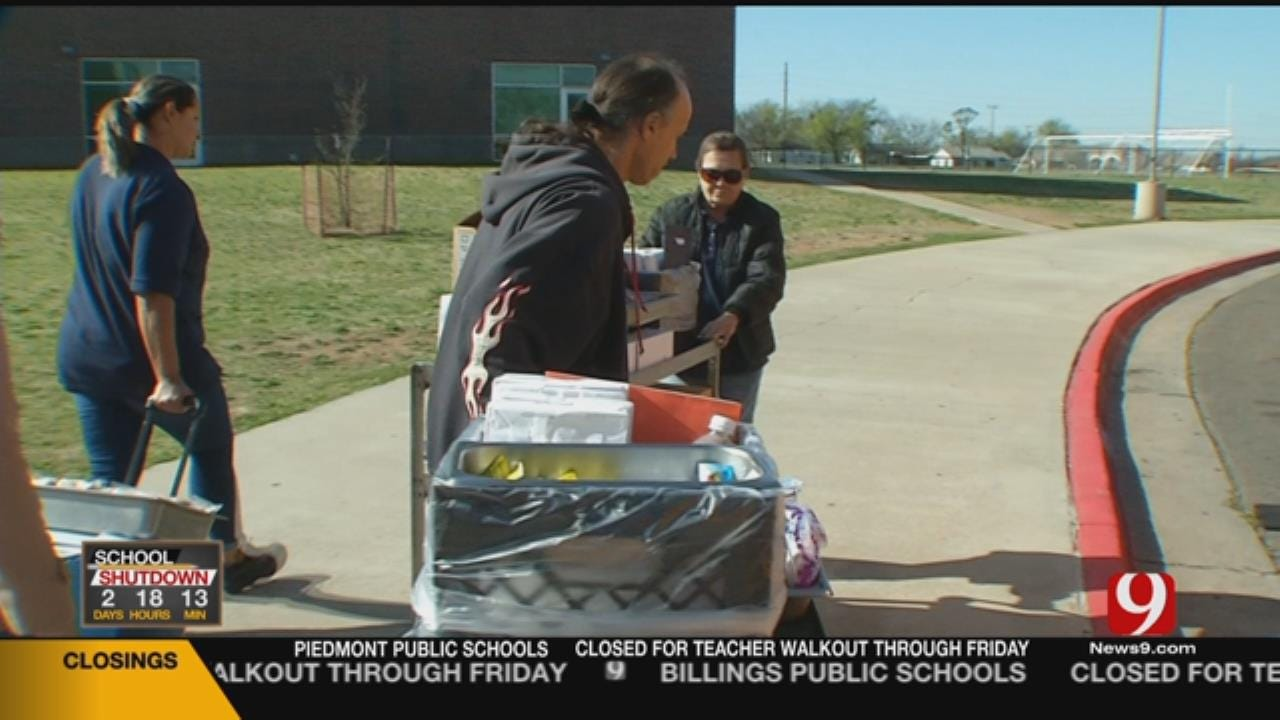 OKCPS Deliver Meals During The Walkout
