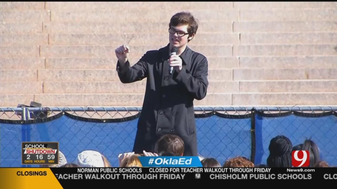 Students Join Teachers, Share Passionate Speeches At State Capitol