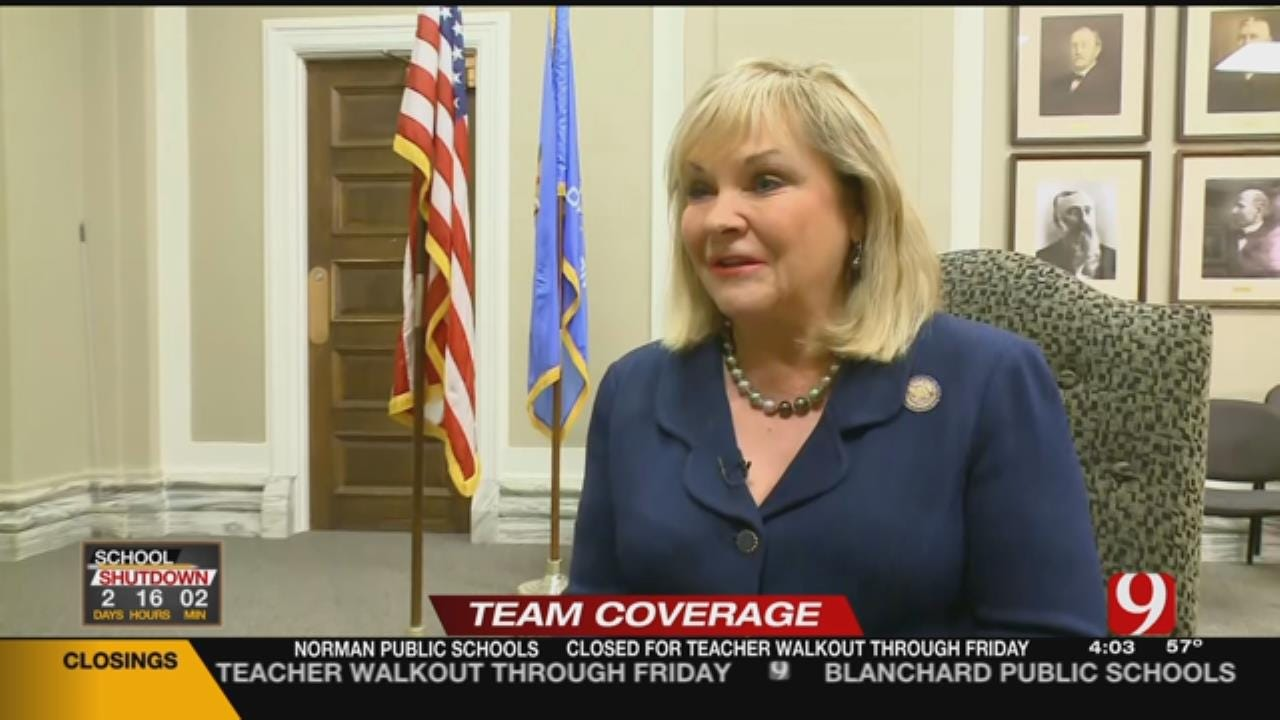 Teachers Frustrated After Gov. Fallin's Comments During CBS Interview