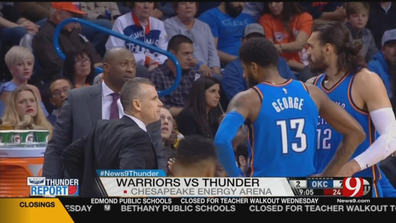 Durant Scores 34 To Help Warriors Top Thunder