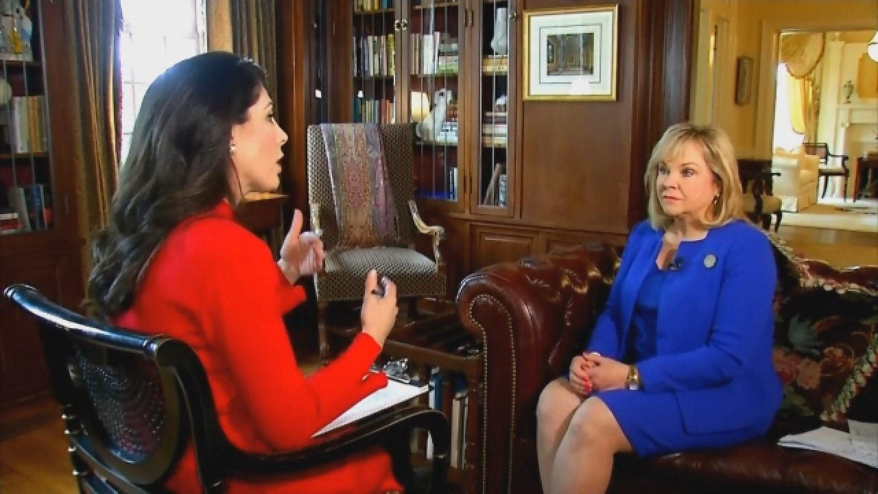 Amanda Taylor Interviews Gov. Fallin About Education Funding