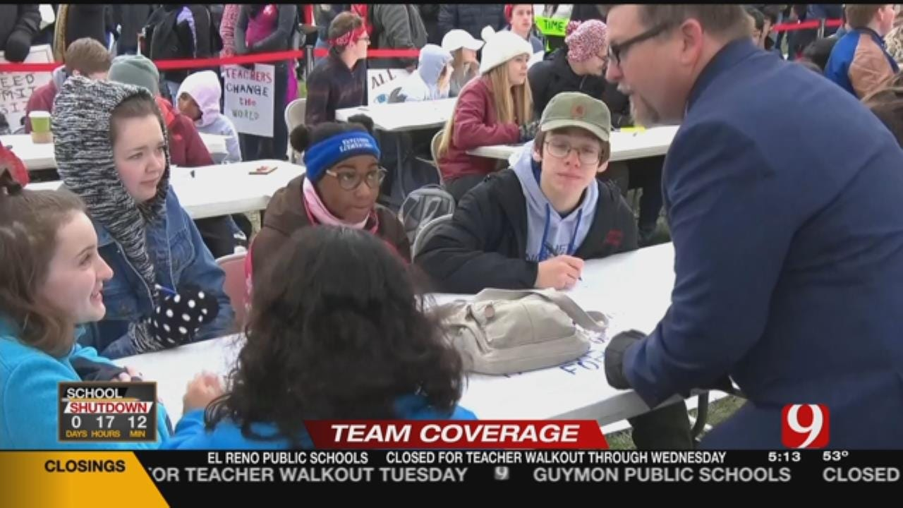 Teachers Hold Class At State Capitol During Walkout