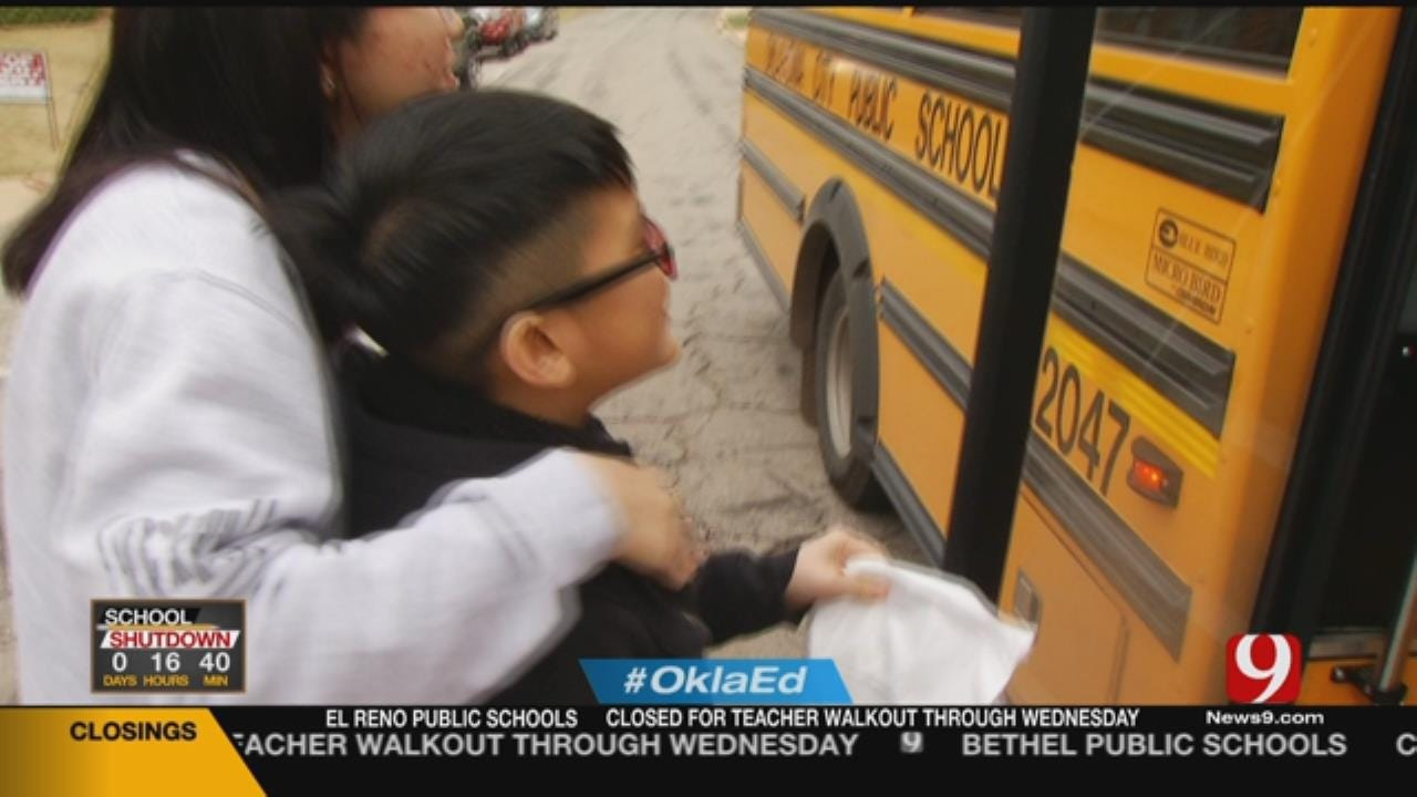 OKCPS Hands Out Meals To Students During Walkout