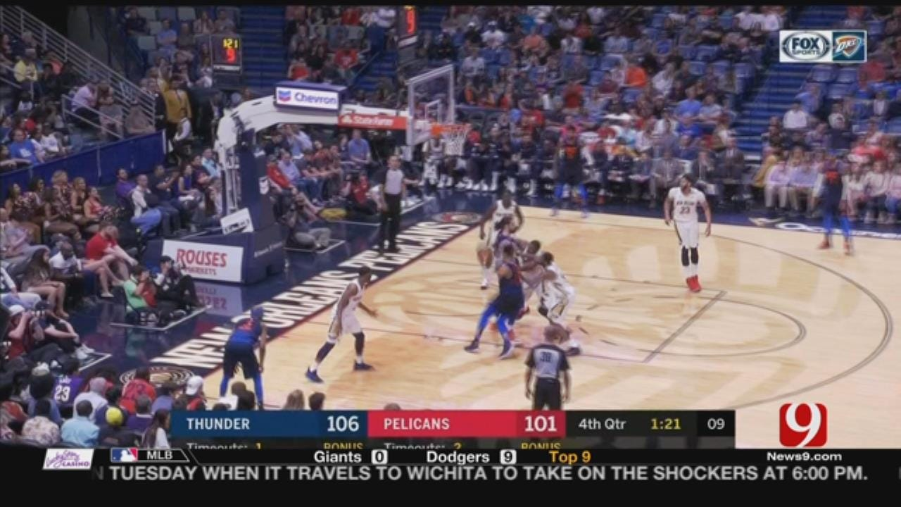 Thunder Take On The Pelicans In New Orleans