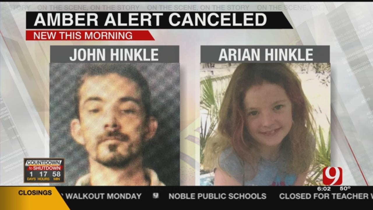 Amber Alert Canceled For Arian Hinkle