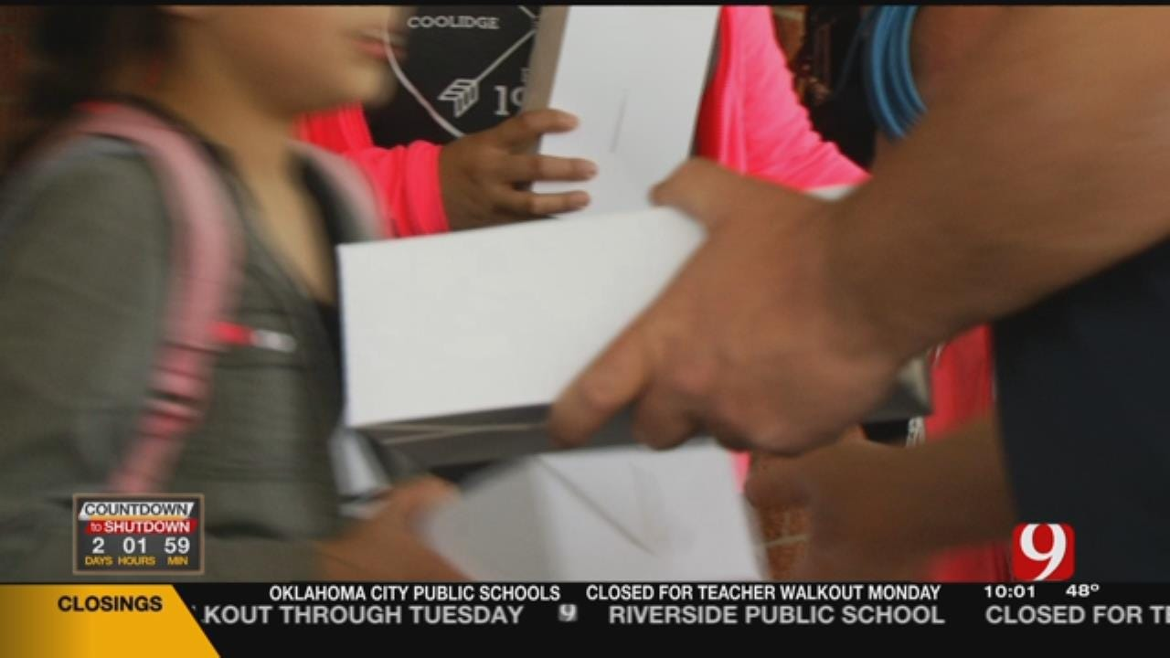 OKCPS Students Get Boxed Meals Ahead Of Walkout