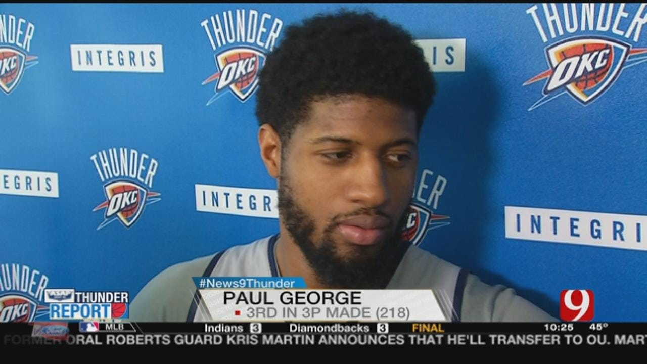 WEB EXTRA: Paul George Thinks Improved Weather Will Help His Offense
