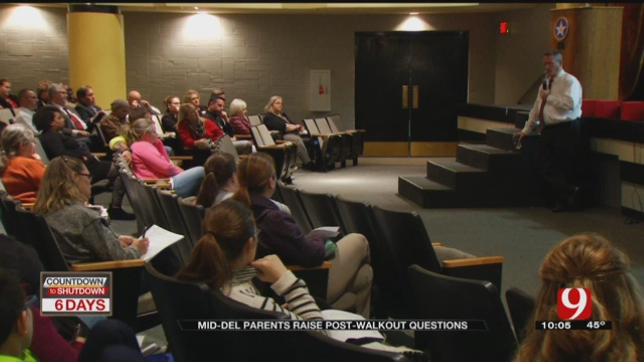 Mid-Del Schools Holds Community Forum Ahead Of Walkout
