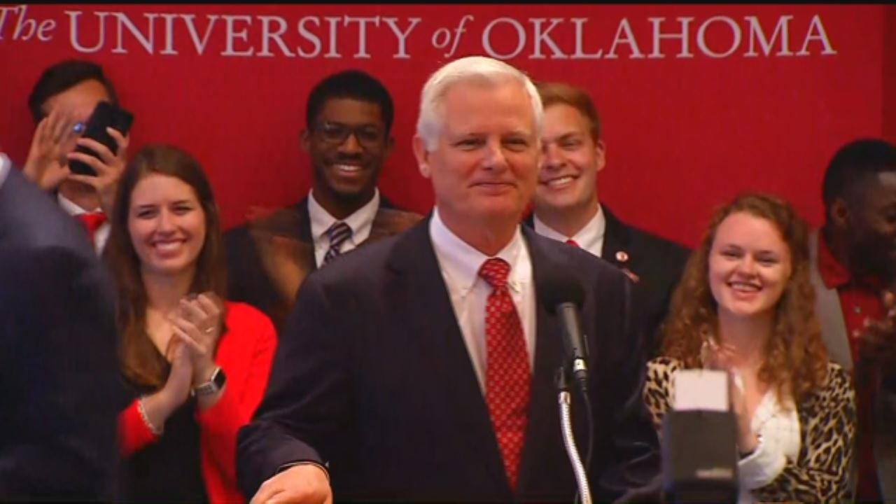 WEB EXTRA: OU Introduces James Gallogly As New President