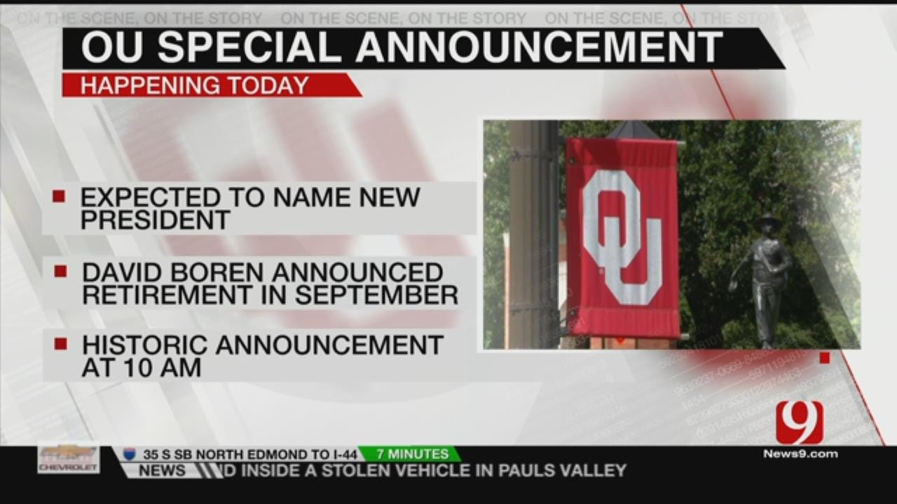 OU Board Of Regents To Approve, Introduce New University President