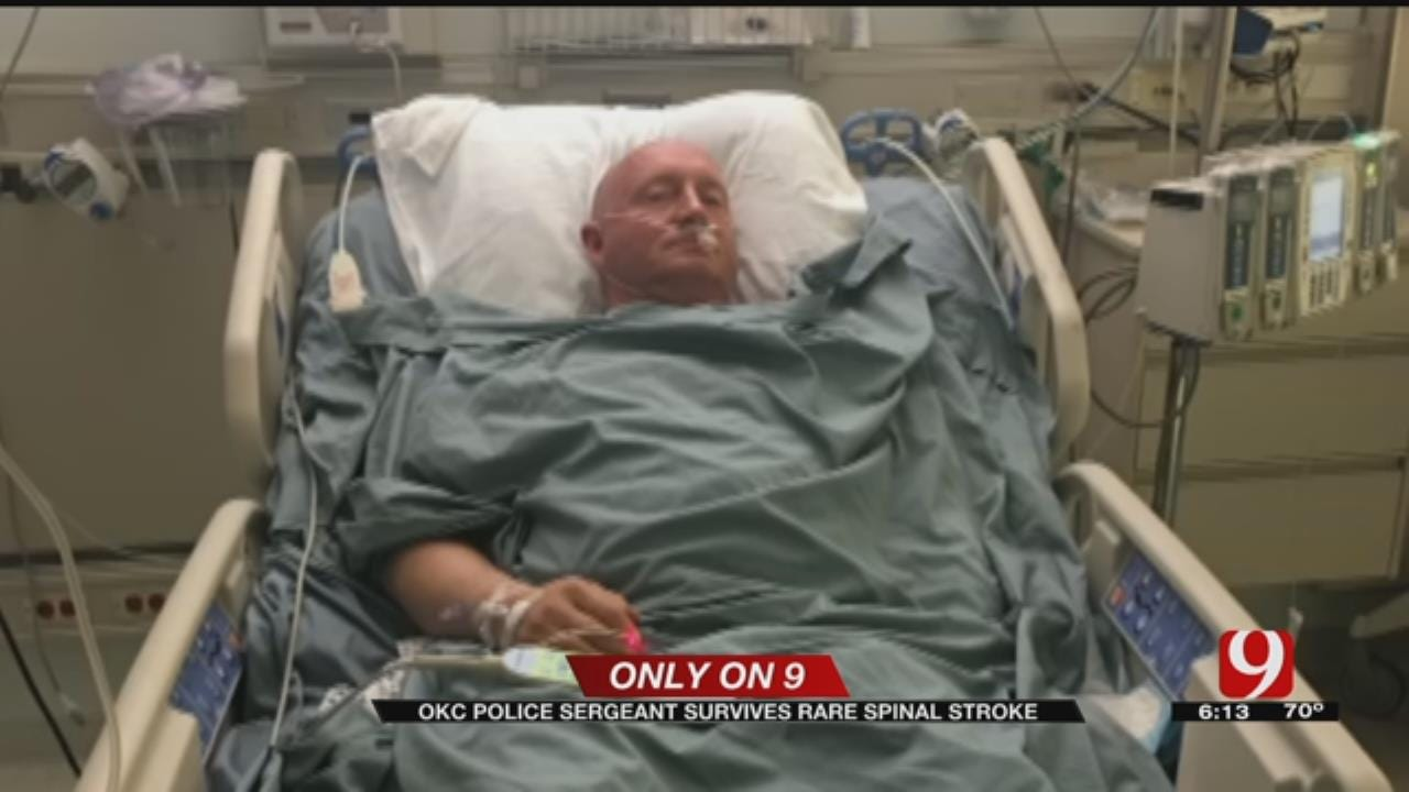 OKC Police Sergeant Recovers From Rare Spinal Stroke