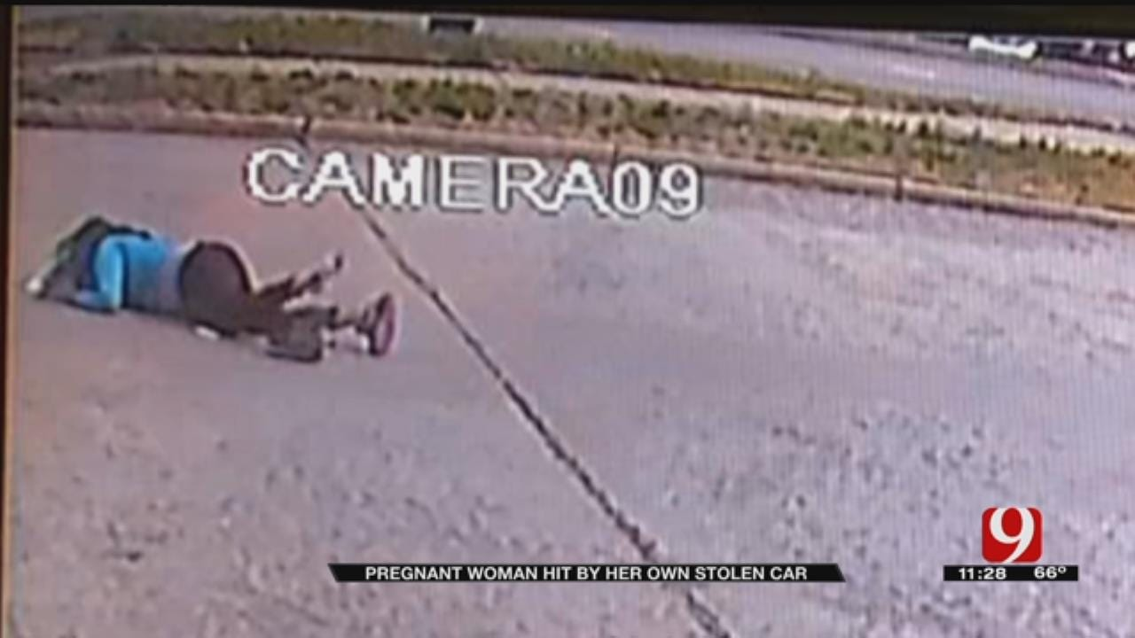 Pregnant OKC Woman Hit By Her Own Stolen Car