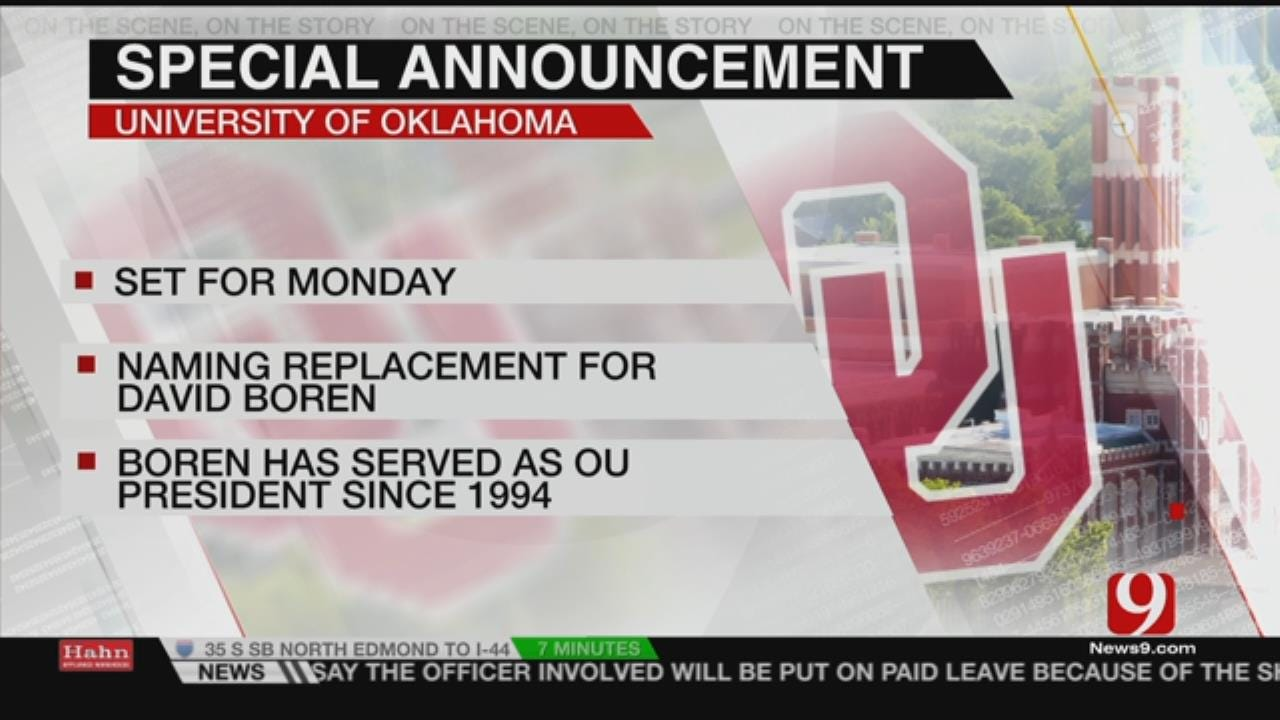 "OU Board Of Regents To Make ""Historic"" Announcement Next Week"