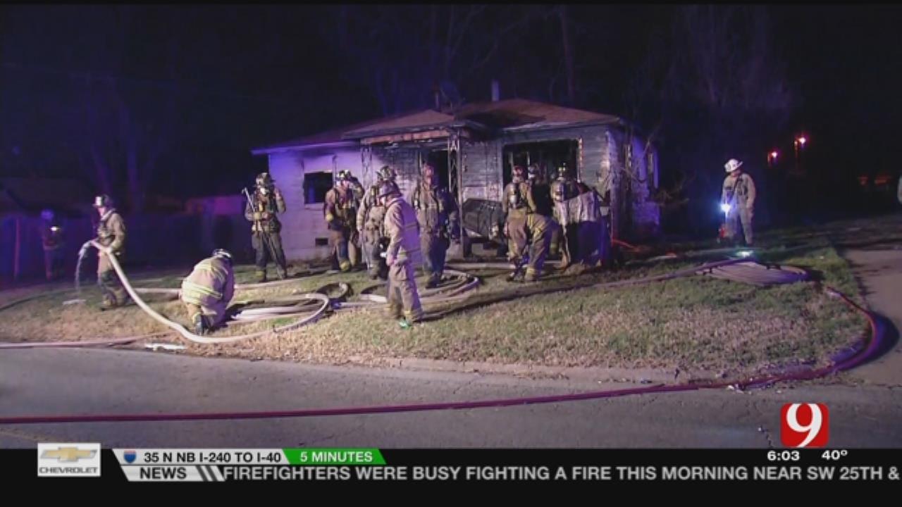 Vacant SW OKC Home Burns Early Thursday