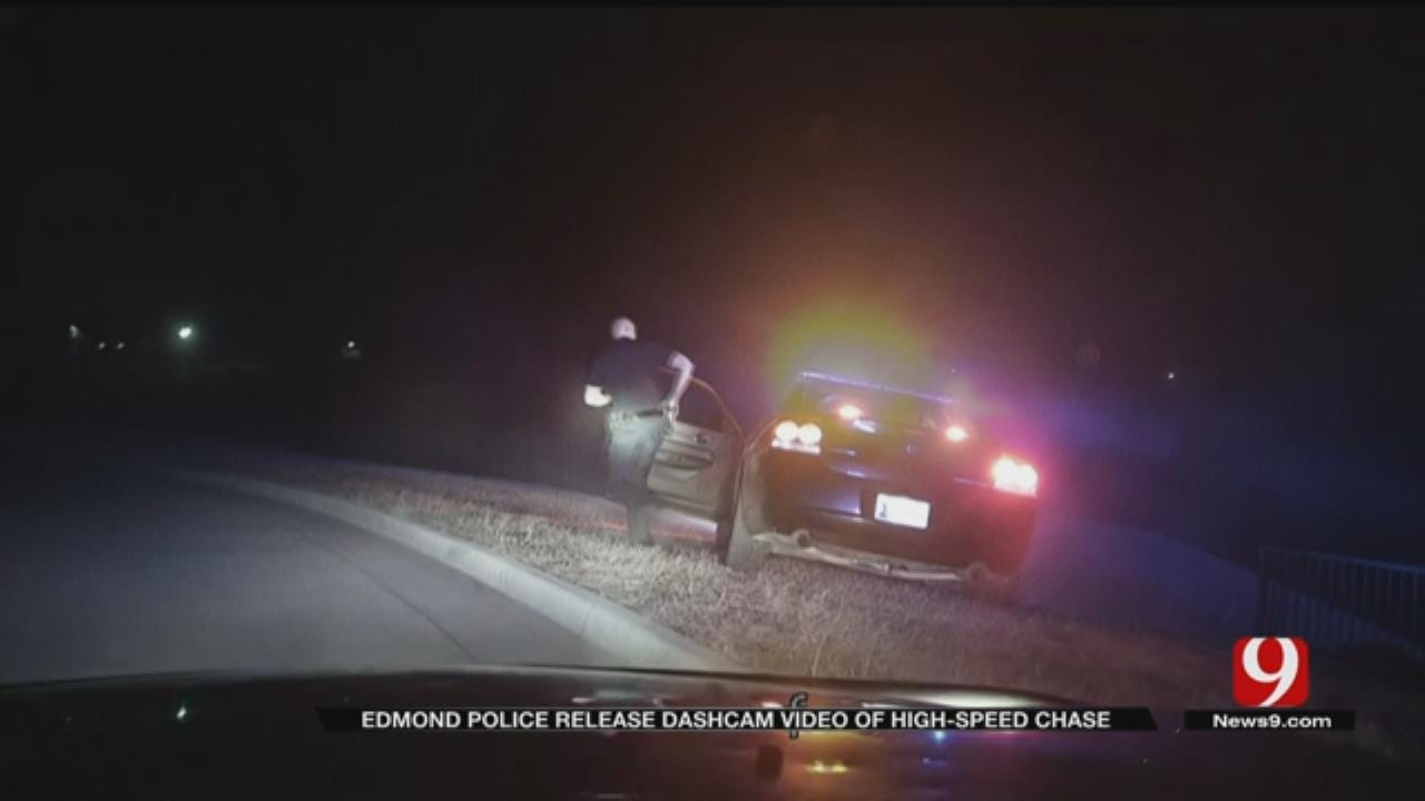 Dash Camera Captures High-Speed Police Chase In Edmond
