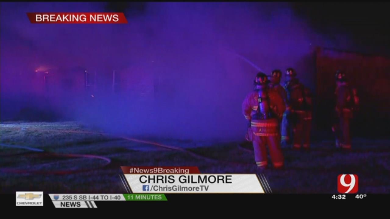 Firefighters Battle Spencer House Fire