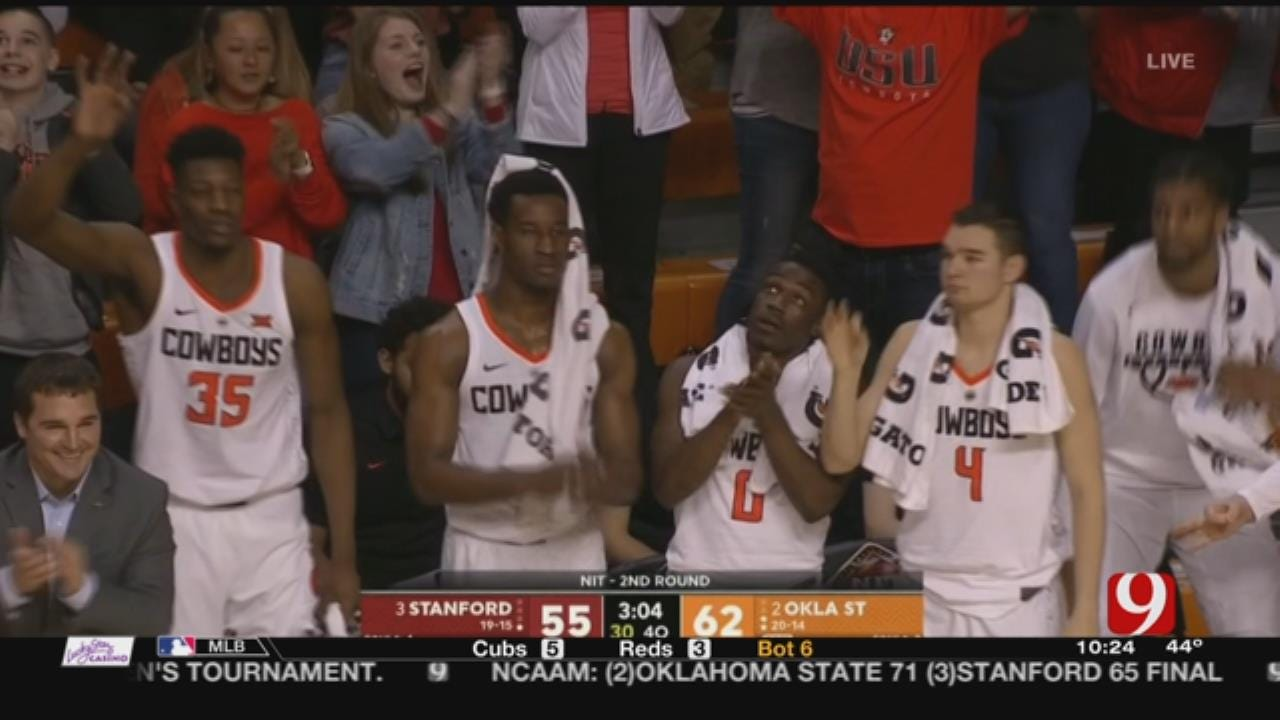 Carroll Scores 26, Oklahoma State Tops Stanford 71-65 In NIT