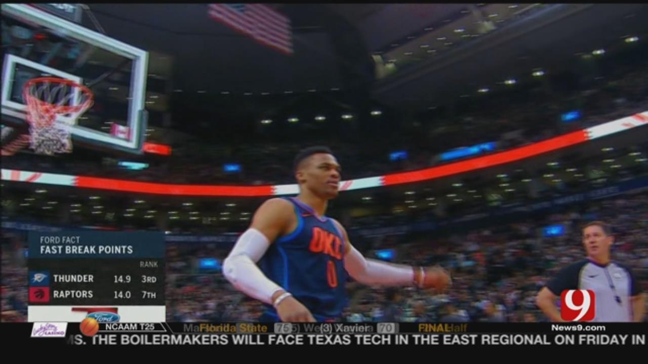 Thunder Ends The Raptors 11-Game Winning Streak