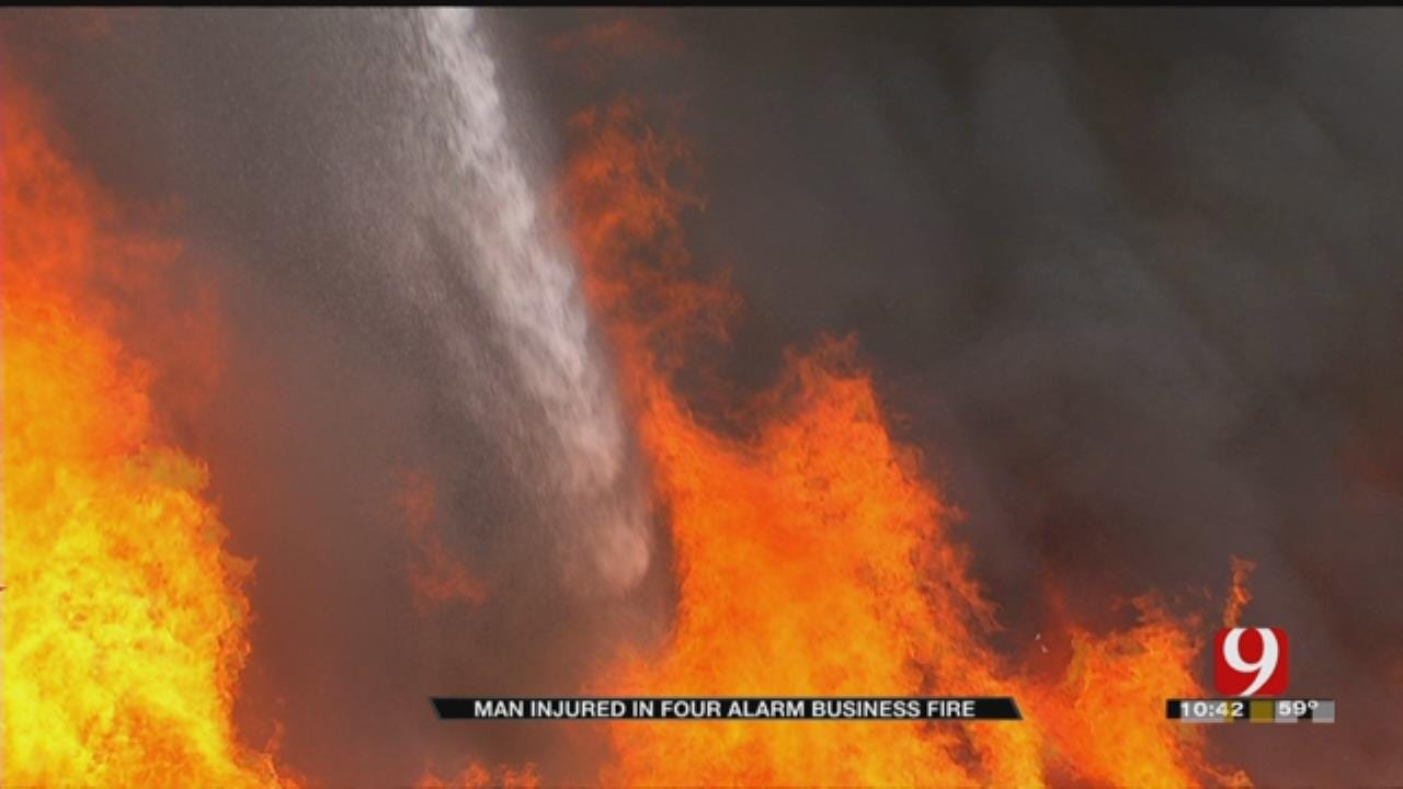 Fire Burns Throughout Afternoon In SW OKC