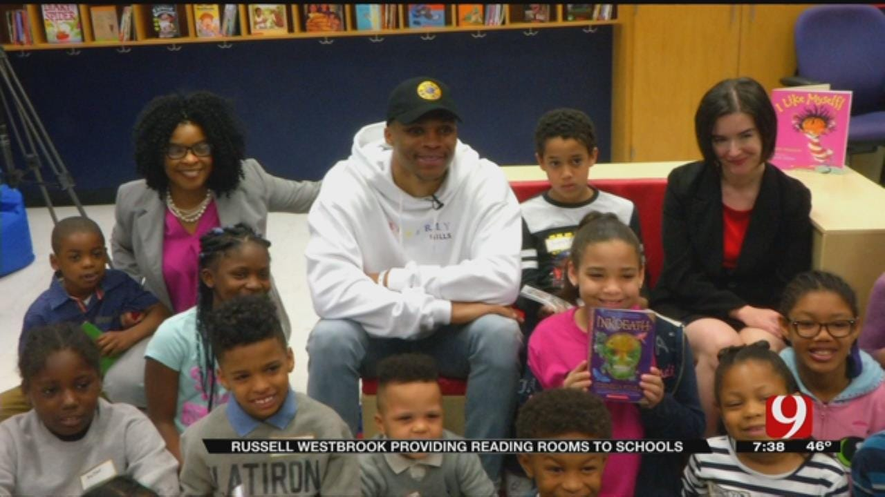 Russell Westbrook Opens 6th Reading Room