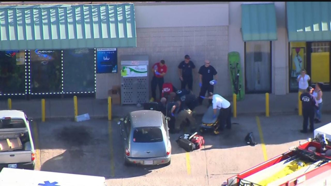 WEB EXTRA: SkyNews 9 Flies Over Shooting Scene In Stockyard City