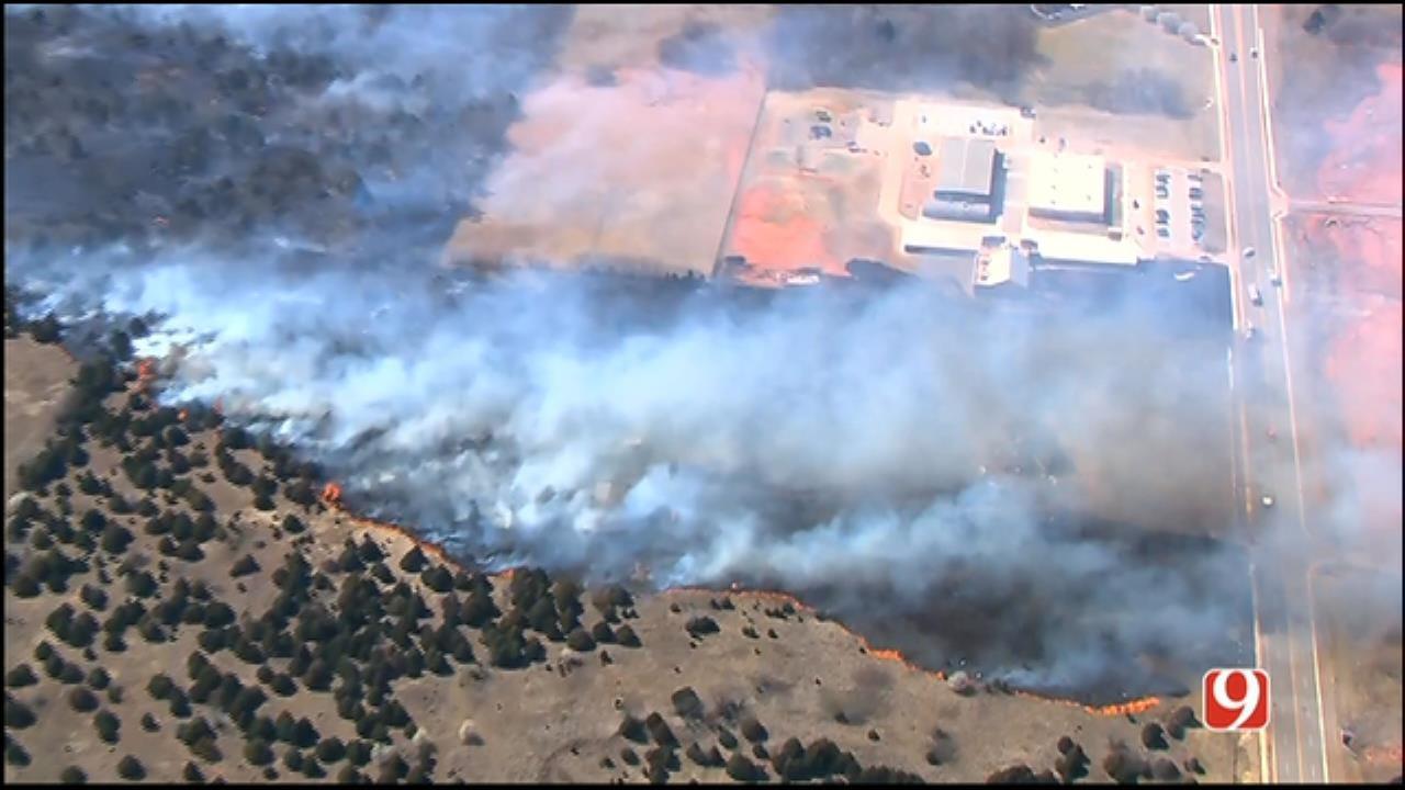 WEB EXTRA: Wildfires Spread To Home In NE OKC