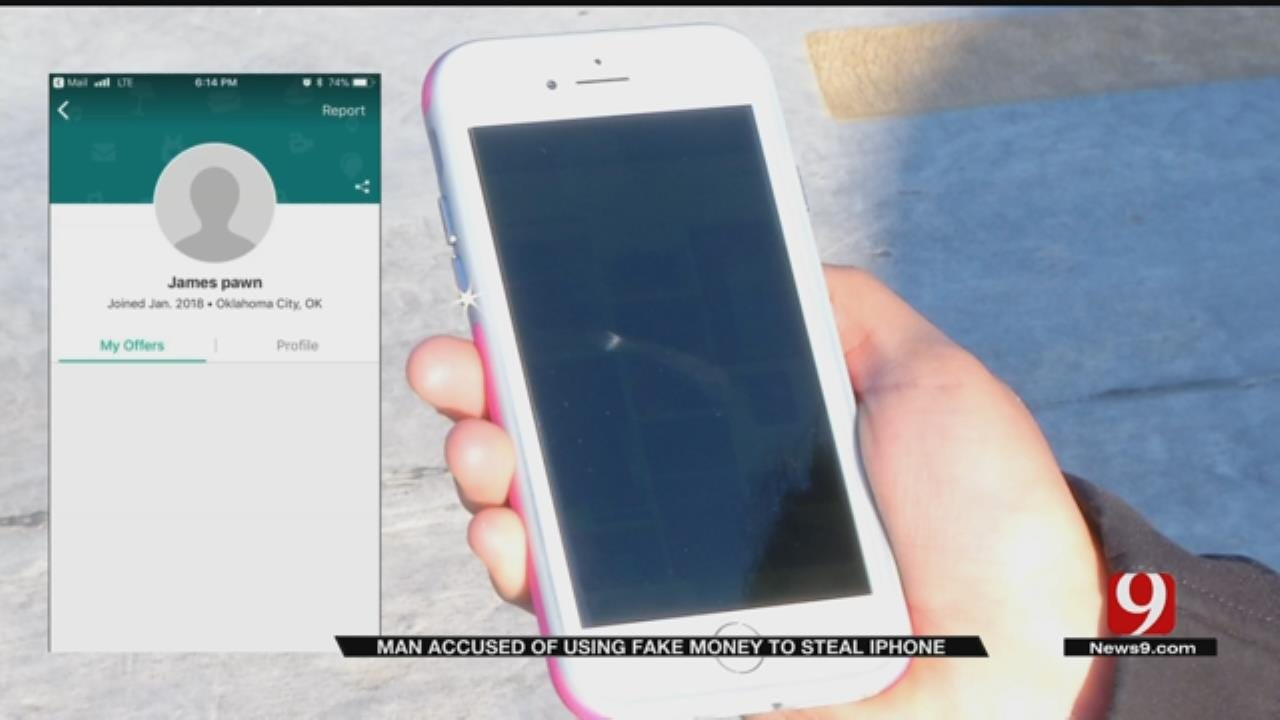 Suspect Uses Counterfeit Money For Stolen Phone