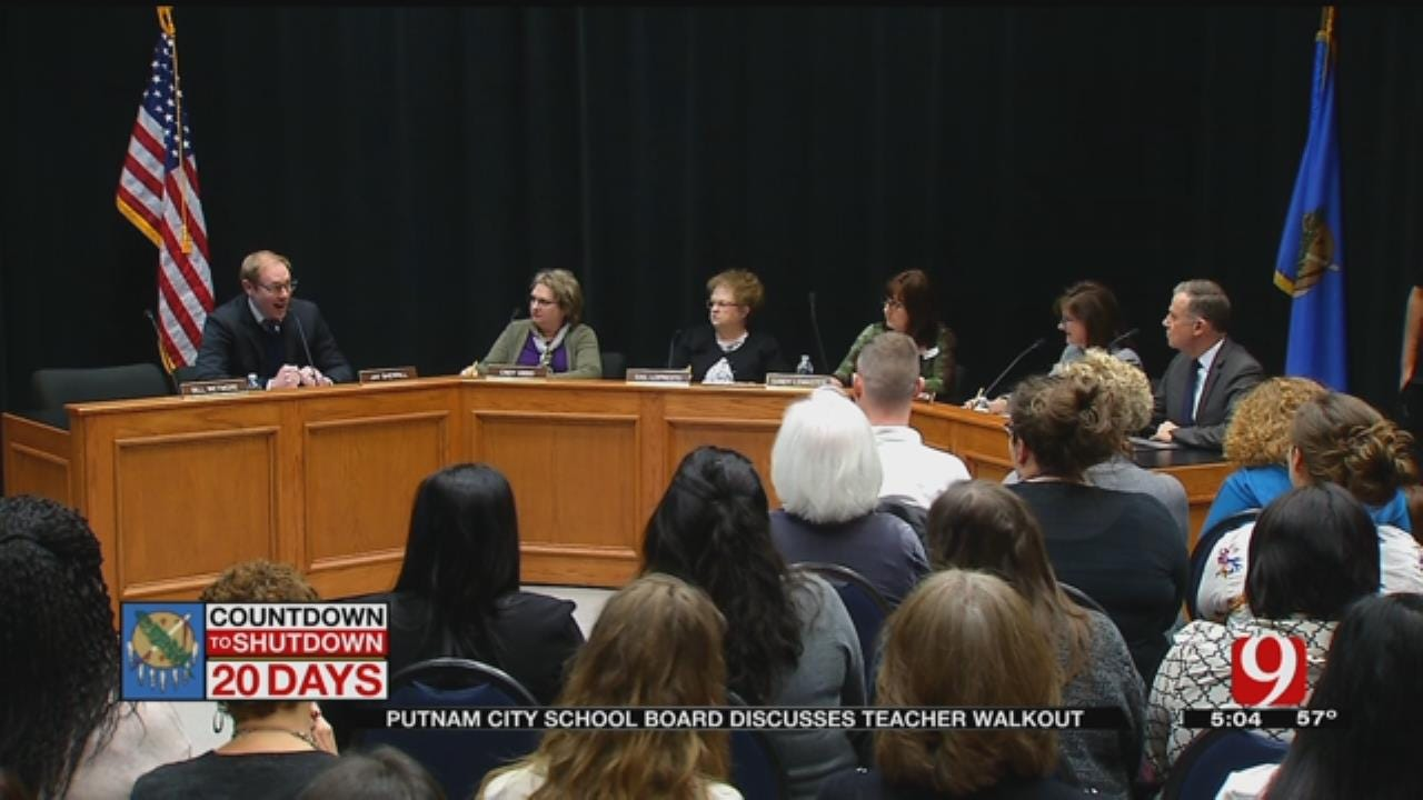 Putnam City School Board Discusses Teacher Walkout