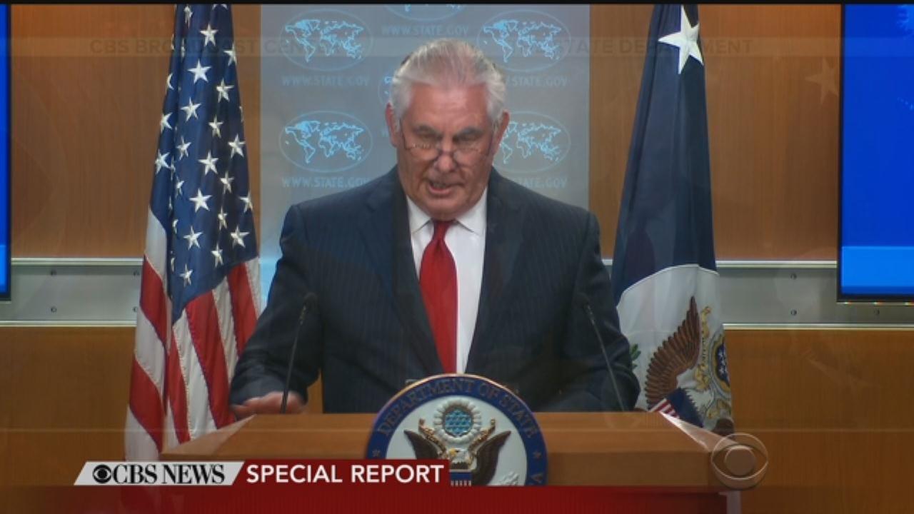WEB EXTRA: Tillerson Responds To Firing