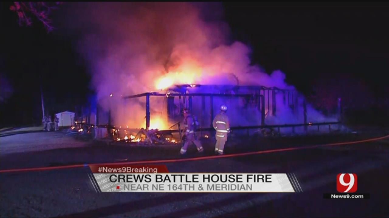 Overnight Fire Destroys NE OKC Home