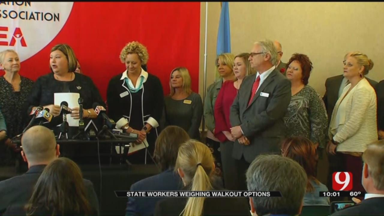 State Agency Employees To Consider Walkout Options
