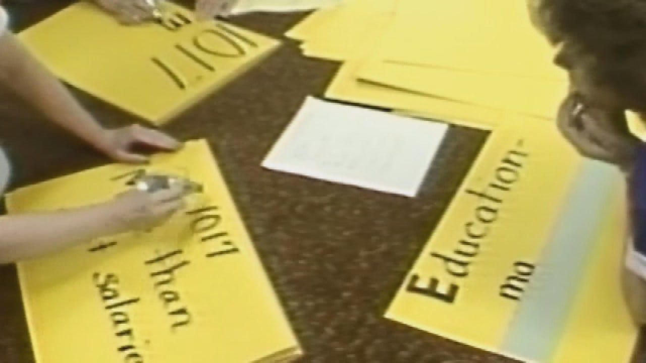 News 9 Flashback (1990): Mid-Del School District Gets Ready For Teacher Walkout