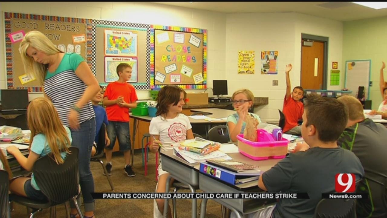 OKC Child Care Providers Prepare For Teacher Strike