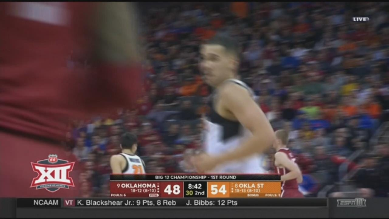 Oklahoma State Beats Oklahoma 71-60 In Big 12 Opening Round