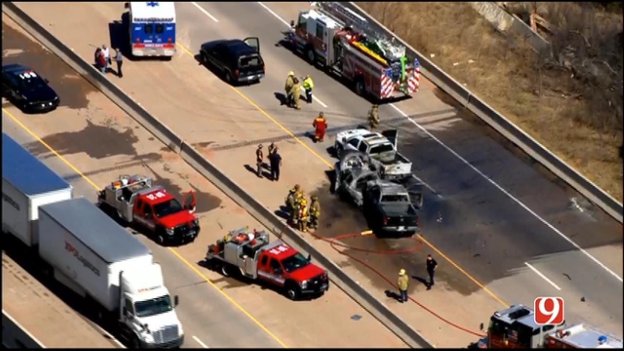 WEB EXTRA: SkyNews 9 Flies Over Deadly Crash On I-44 In SW OKC