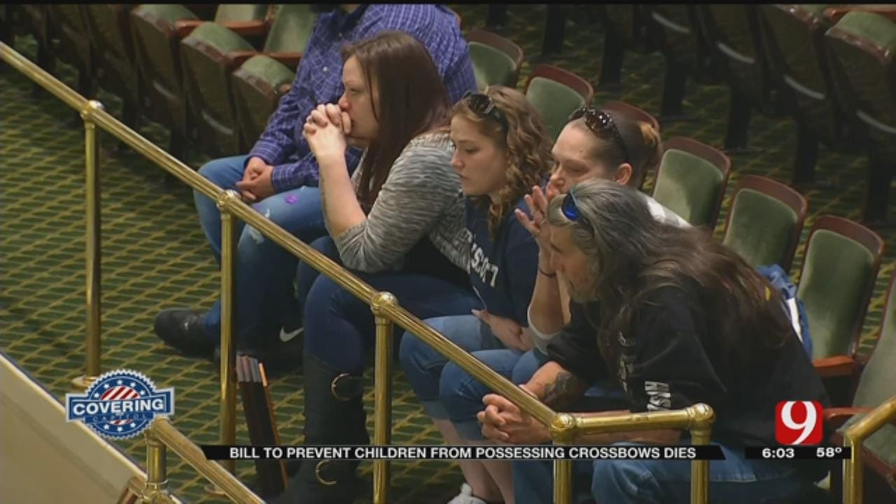 Family Upset After Crossbow Legislation Fails In State House