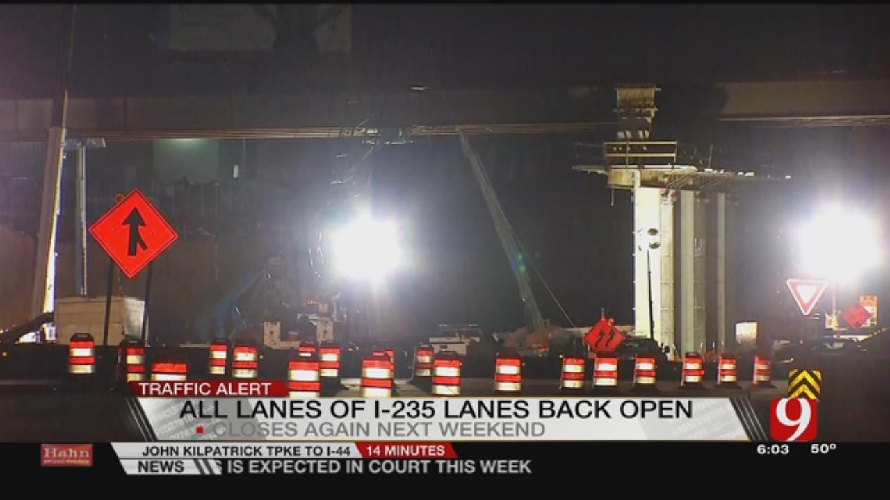 I-235 Reopens After Weekend Closure For N 50 Bridge