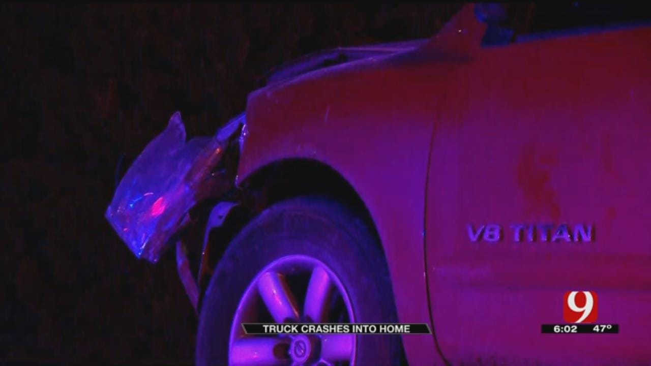 Truck Crashes Into Yukon Home
