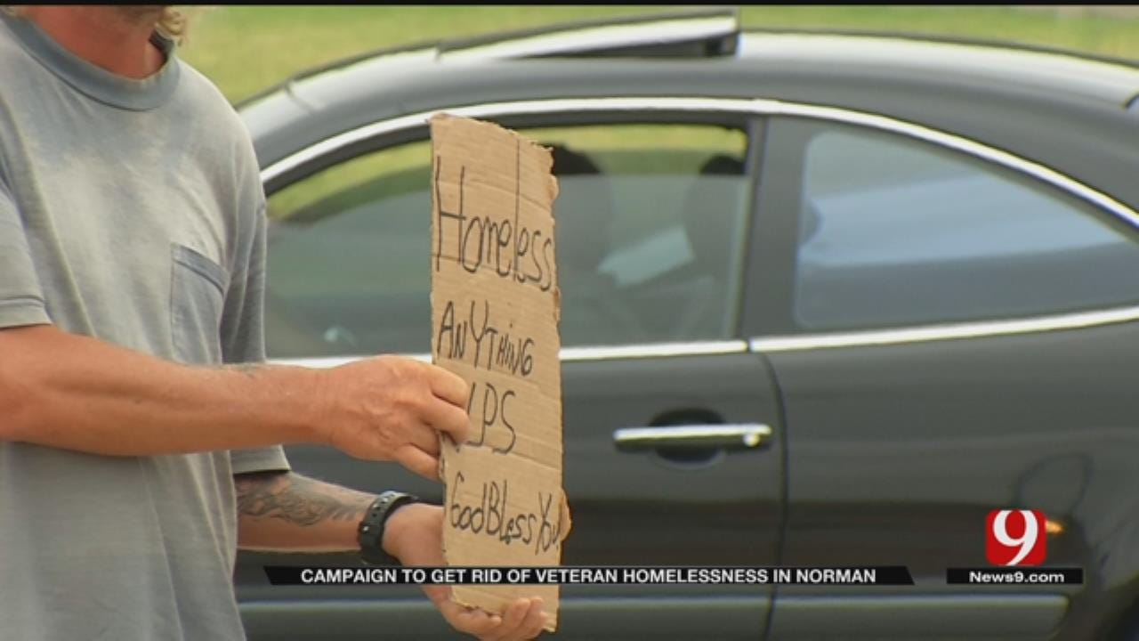 Norman Receiving Recognition For Campaign Helping Homeless Veterans