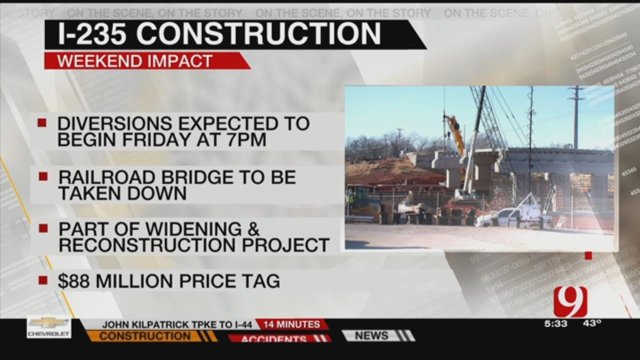 Traffic Diversions To Be Made This Weekend Along I-235